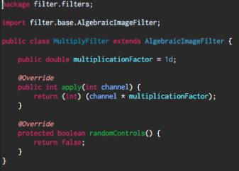 Multiply filter code